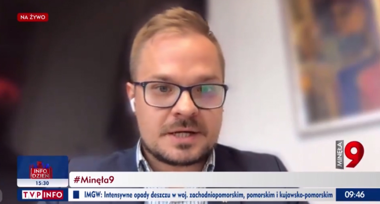 Bartłomiej Machnik wTVP info