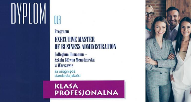 Executive MBA Collegium Humanum wprestiżowym Ratingu Programów MBA