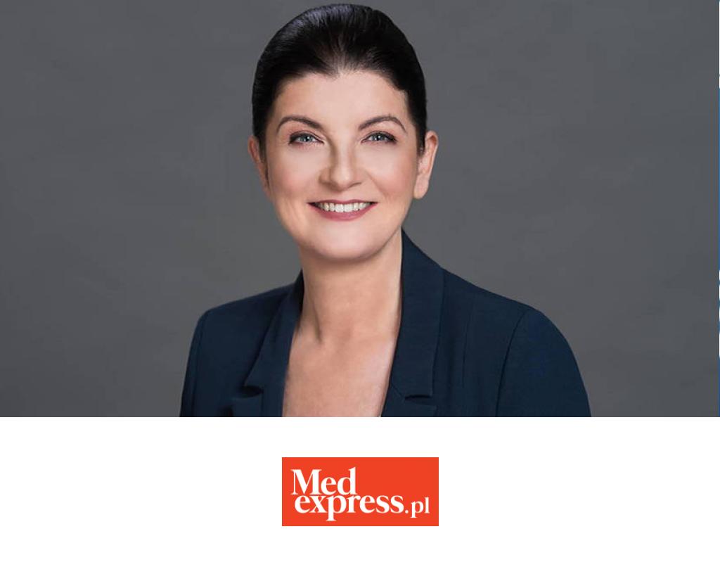 Anna Banaszewska nałamach magazu Medexpress.pl