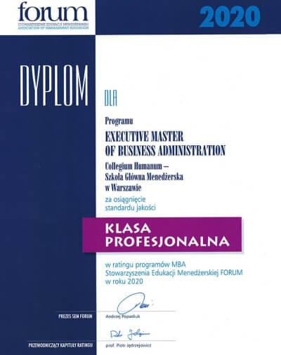 Dyplom Klasa Profesjonalna