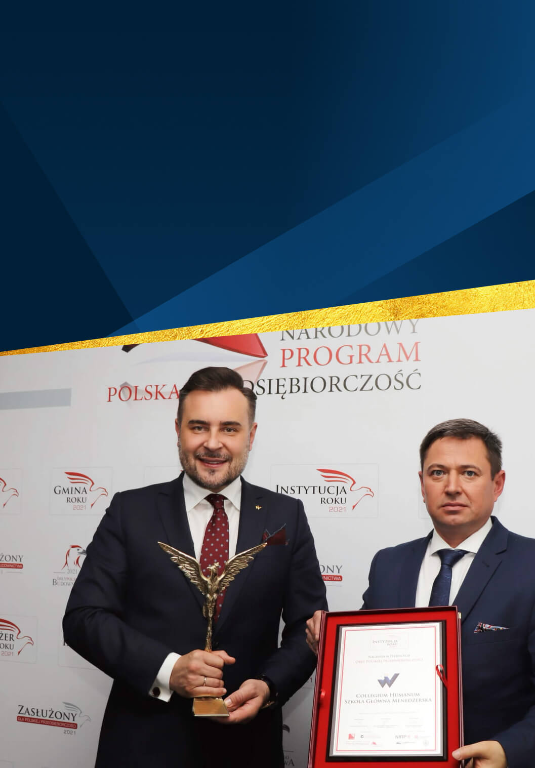 Collegium Humanum nagrodzone Instytucją Roku 2021