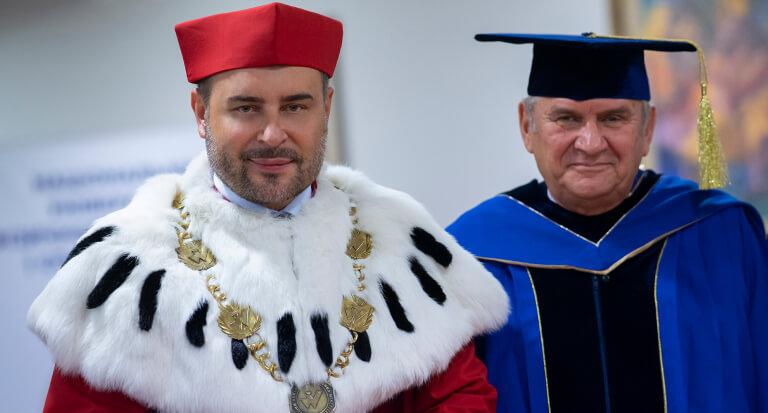 Uroczystość nadania Doktora Honoris Causa dlaPrezesa PKOL wKijowie
