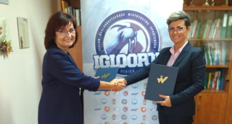 Współpraca orazporozumienie wzakresie edukacji młodzieży Szkoły Mistrzostwa Sportowego Igloopol Dębica